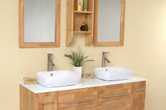 Laminated wood cabinets and accessories