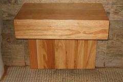 Rubberwood vanity unit for small bathroom