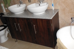 Rubberwood stained vanity
