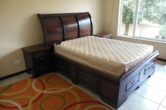 Lucia bed and pedestals