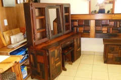 Sleeper dressing table, head board & pedestals small