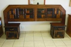 Sleeperwood Headboard & Pedestals, Rustic