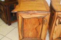Boekenhout bedside tables