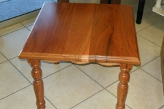 Teak lamp table
