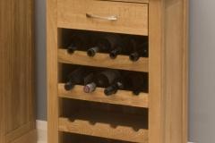 Wine rack lamp table