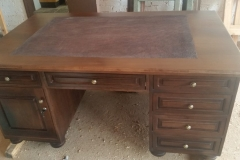 Desk with leather insert