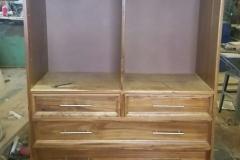 Kiaat drawers with adjustable shelving