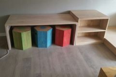 Kids desk and pencil