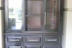 Rubberwood wall unit