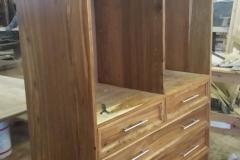 Kiaat drawers with adjusting shelves