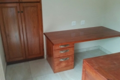 Pop up desk and cupboard