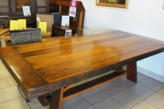 8 seater sleeper wood table, refractory base top resized