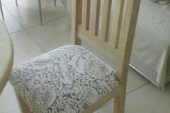 Ash on patio chair