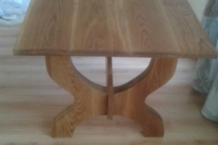 Carved refractory table