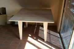 Small Square Table, tapered legs