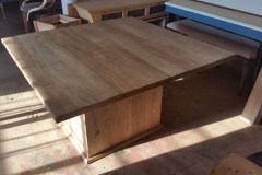 Square rubberwood table
