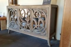 Oleida Hand Carved Mirrored sideboard