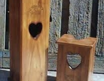 Heart Loo Roll holders