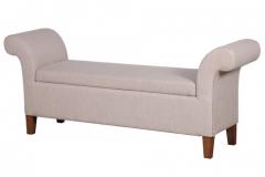 Upholstered ottoman linen