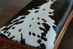 black nguni and kiaat ottoman