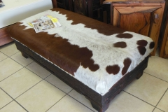 Nguni and sleeper ottoman