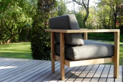 Roxy patio lounge chair back