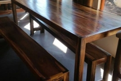 Sleeperwood patio table with 2 benches