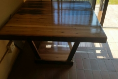 East African Teak Sleeper Wood table, 1240x1240