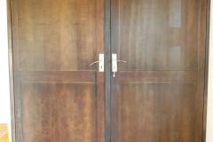 Solid double doors