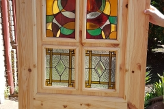 Oregon Door with stained glass windows