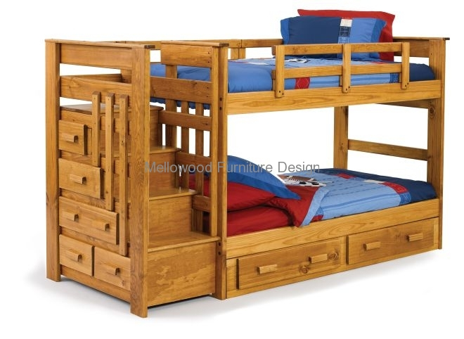 Bunk bed with side stair