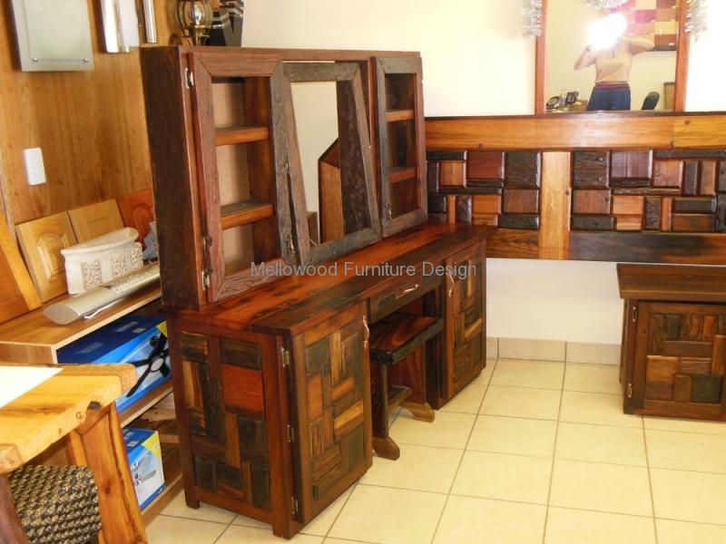 Sleeper dressing table, headboard and pedestals