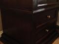 Rubberwood pedestals, stained dark