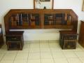 Rustic sleeperwood headboard & pedestals