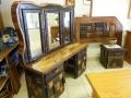 Rustic sleeper wood bedroom suite