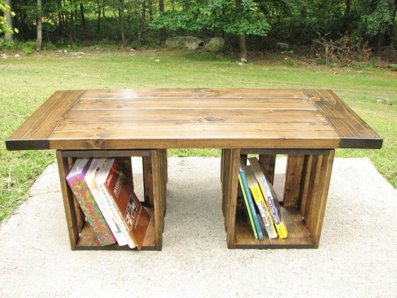 Rustic table with storage