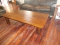 Coffee table distressed rubberwood