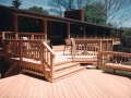 Deck with balustrading