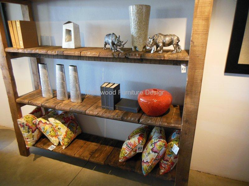 Rustic sleeperwood shelf unit