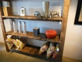Rustic sleeperwood shelf unit