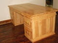 George Desk Rubberwood front