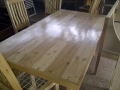 Pine table with riempie chairs