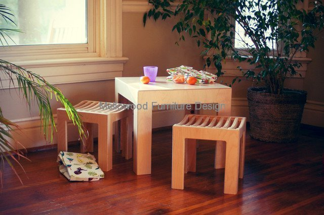 Cube table and stools