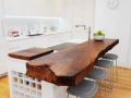 Slab - Kitchen with wood slab counter