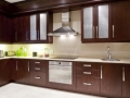 Dark Melamine sleek kitchen