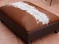 Brown Nguni ottoman
