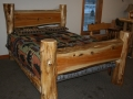 Log and plank single bed