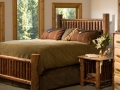 Log double bed