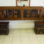 Sleeperwood Headboard & Pedestals, Rustic small