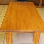 Huge oregon pine coffee table